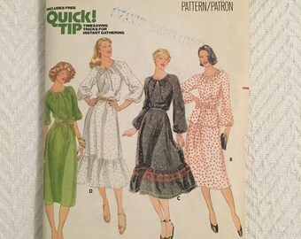 Vintage 1970s Butterick Top and Skirt Pattern Size 14