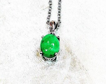Utah Variscite Necklace in Platinum, Handmade Jewelry By NorthCoastCottage Jewelry Design & Vintage Treasures