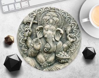 Ganesha Mouse Pad Hindu MouseMat Buddha Mousepad Printed MouseMat Zen Mouse Pad Indian MousePad Elephant-Headed MouseMat Shiva MousePad Desk