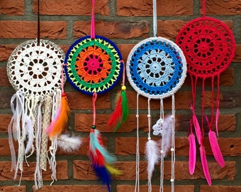 Haakpatroon dromenvanger/ crochet pattern dreamcatcher