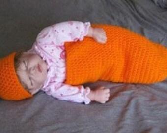 Spring Carrot Cocoon & Hat Crochet Pattern Set PDF 133