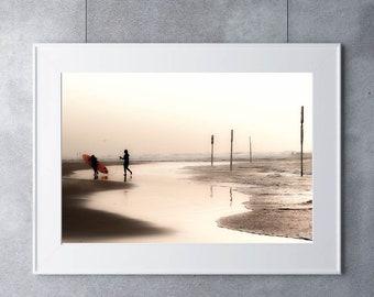 Beach Print Digital download, Beach Print Download, Beach Print, Beach Photo, Beach Printable, Beach Photography, Beach Printable Art,Sepia