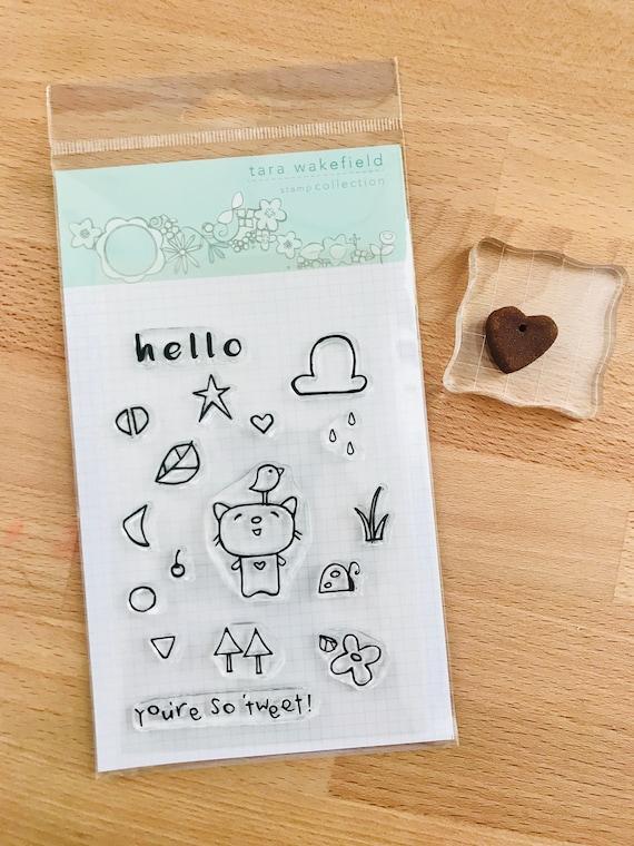 Tweet Kitty // clear stamp // card making // scrapbooking // kids crafting // stamp set