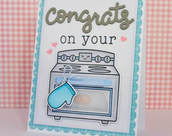 Congrats on your Bun in the Oven Card / Interactive Card / Baby Shower / New Baby / Congratulations