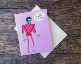 Zombie Michael Jackson Thriller Birthday Card!