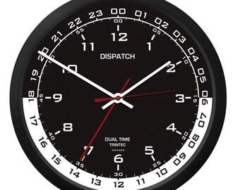 "Trintec 10"" DISPATCH Dual Time Clock Black/White  Face DSP-04"