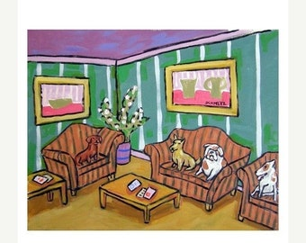 25% off Dogs in the Waiting Room Art Print