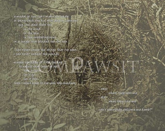 Vietnam Veterans Tribute, Jungle Photocomposite with Verse, Welcome Home, 10 x 8