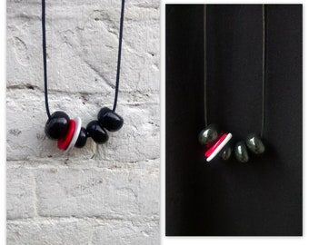 "Necklace (""Black Velvet and a Raspberry"")"