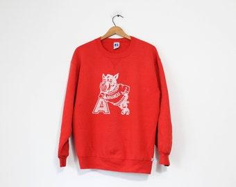 Vintage Red University of Arkansas Razorbacks Sweatshirt