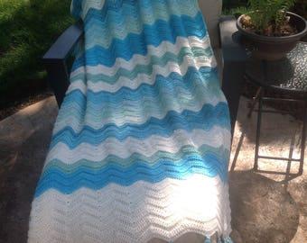 By the Seashore crochet afghan/blanket