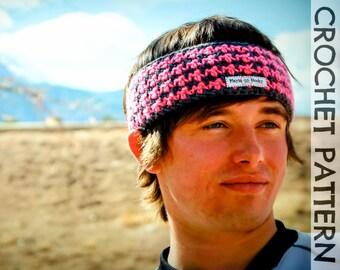 CROCHET PATTERN - Houndstooth Headband Reversible Ear Warmer