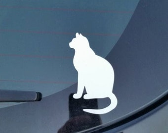 3 inch tall kitty cat vinyl decal