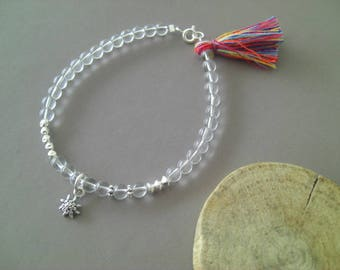Edelweiss Crystal and sterling silver bracelet