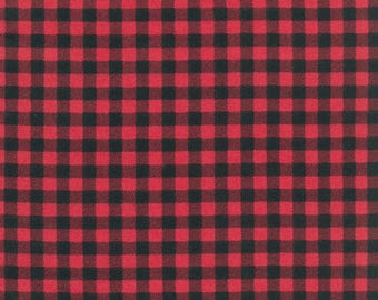Robert Kaufman - Burly Beavers - Plaid Flannel - Cardinal - Fabric by the Yard AHEF1599594
