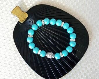 Turquoise bracelet,beaded bracelet,Zen bracelet,Buddha bracelet,ladies bracelet