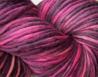 Hand Painted Bulky Wool -- Punker Princess (150g)