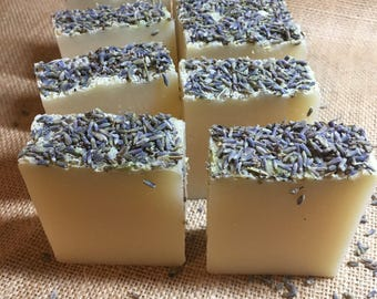 Lavender Soap Handmade Cold Process Soap Lavender Butter Soap Luxury Soap Bar Gift for her 100g