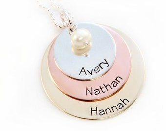 Personalized Mother's Necklace - Personalized Family Necklace - Name Necklace - Mommy Jewelry - Mothers Necklace