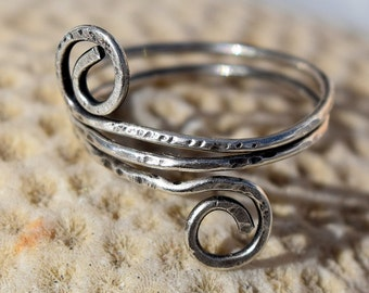 Wire Wrap Ring, Patina Sterling Silver Ring, 16 ga. Cusomtize, Wire Ring, Jewelry
