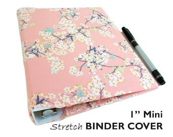 "a5 Planner Binder Cover, CHERRY BLOSSOM Floral Planner Cover for 1"" Mini-Binder, Half Size Planner Cover a5 Floral Binder, a5 Ring Binder a5"