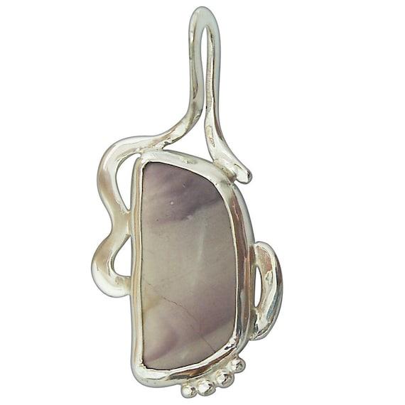 Pendants Porcelain Jasper Pendant set in Sterling Silver  pporf2345