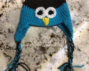 Crochet Newborn Owl Hat