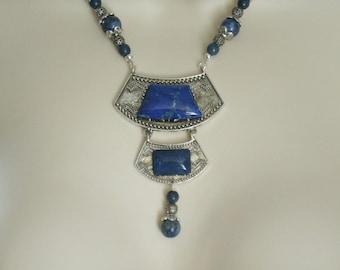 Lapis Necklace, boho jewelry gypsy jewelry bohemian jewelry hippie jewelry new age necklace boho necklace bohemian necklace gypsy necklace