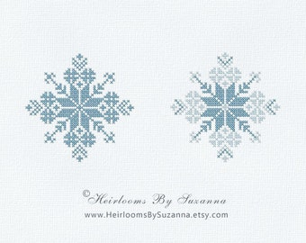 Snowflake - Machine Cross Stitch - Machine Embroidery - Winter - Holiday - Design for Ornament - 4x4 - INSTANT Download - Snowflake-3