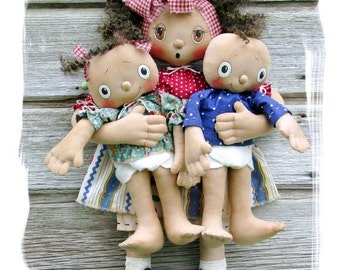 CF270 Safe in Mommy's Arms - PDF Pattern ePattern Cloth Dolls