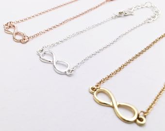 10x Infinity Bracelet gold, Infinity, Infinity, Bridesmaid Gift, Gift, Love, Eternity