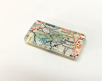 Vintage Map Magnet - you pick the location - custom personalized - made to order - travel gift - rectangle shape