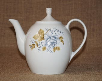 Ceramic kettle Porcelain teapot Russian teapot Retro kitchen Teapot Soviet teapot Ceramic teapot Big kettle Kettle for tea
