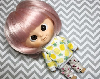 Sweatshirt with sushi for Muichan/ Lati yellow/Pukifee doll
