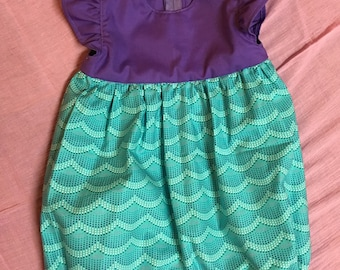 Little Mermaid Romper, Baby Girls Romper