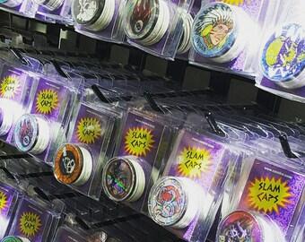 1 Pack POGS slam caps 10 caps 1 metal slammer vintage game  *possible poison slammers!