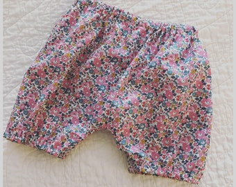 Liberty of London Baby Bloomers, Pink floral, 12 Months, Betsy Ann