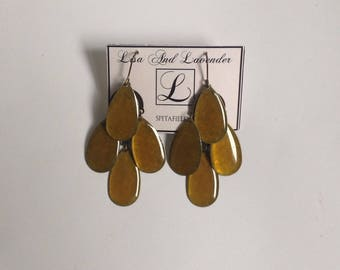 Handmad enamel earrings with different colors