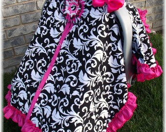 Add a ruffle edge to any carseat canopy