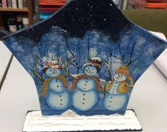 Snowscene Star Decoration - Christmas