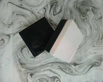 Charcoal and Pink Clay Bar