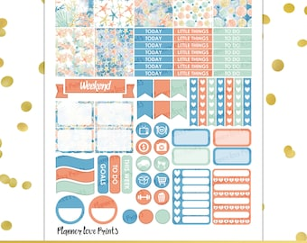 Under the Sea PRINTABLE Planner Stickers | Instant Download | Pdf and Jpg Format