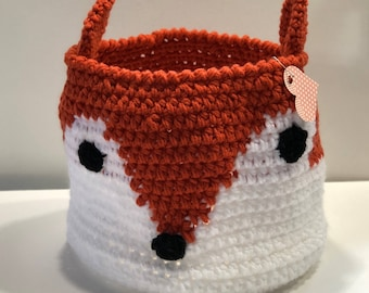 Fox Storage Basket-woven