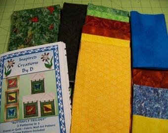 Schmetterling-Trilogie-Art Quilt-Muster-Kit