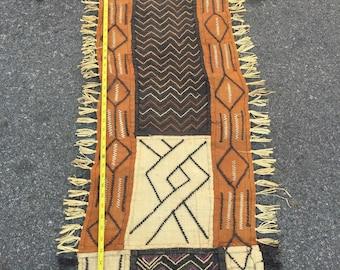 """Africa handmade kuba textiles 4 ft 5""""  X 1 ft 4"""""""