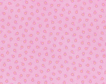 Flower Sugar Spring 2015 Pink Floral Cotton Fabric  by Lecien 31132-20