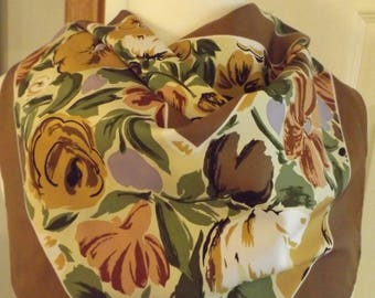 Gorgeous Totes Floral Square Scarf, Vintage Scarf, Retro Fashion, Women's Accessory, Women's Gift, Women's Wear, Head Neck Scarf, Totes
