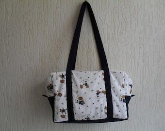 Hedgehogs patterned fabric diaper bag