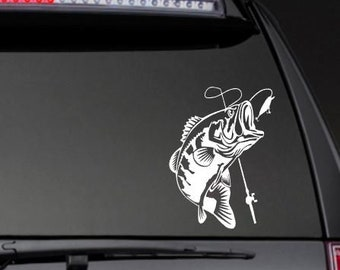 Large Mouth Bass Vinyl Decal