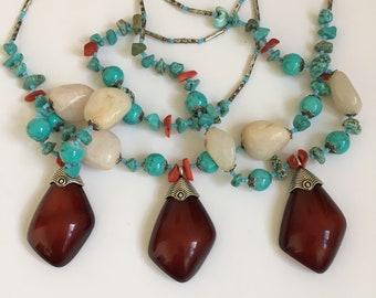 Lozange Quartz Berber Necklace